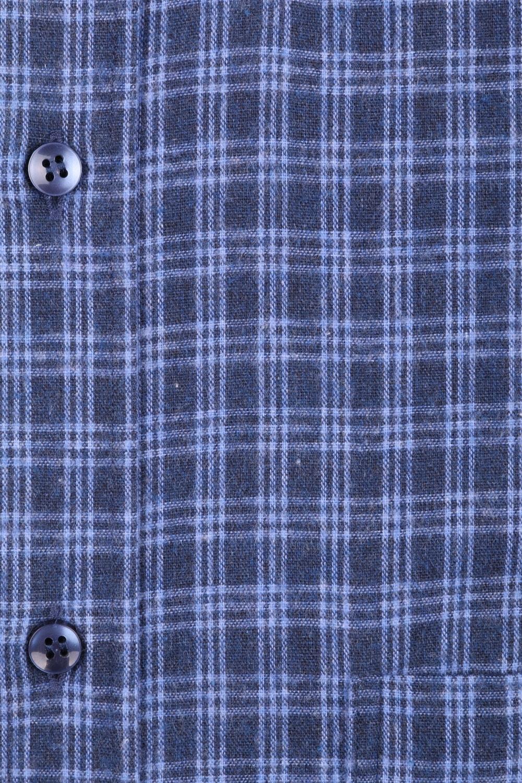 Классическая кашемировая рубашка в клетку, длинный рукав  (Арт. T 3714)