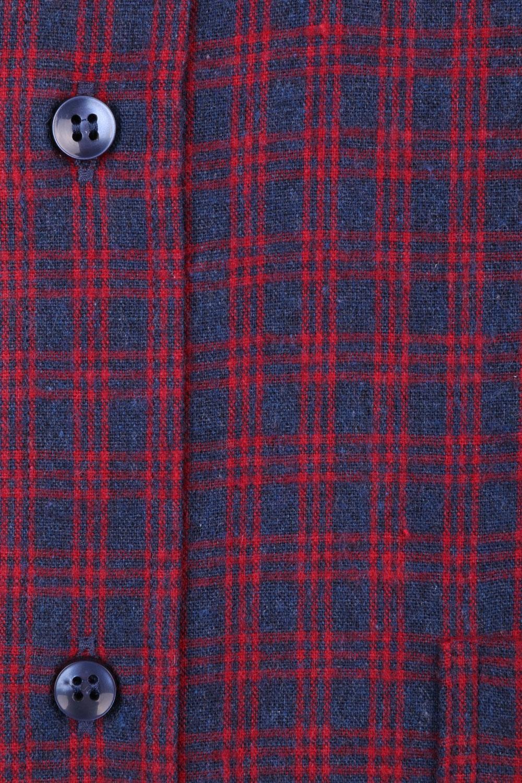 Классическая кашемировая рубашка в клетку, длинный рукав  (Арт. T 3715)