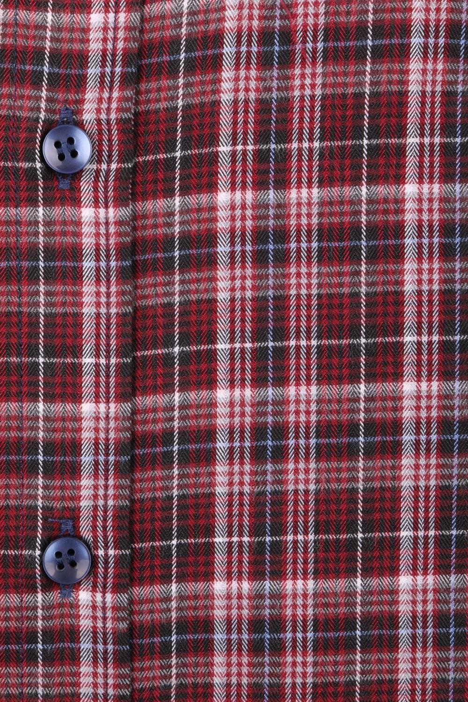 Классическая кашемировая рубашка в клетку, длинный рукав  (Арт. T 3719)