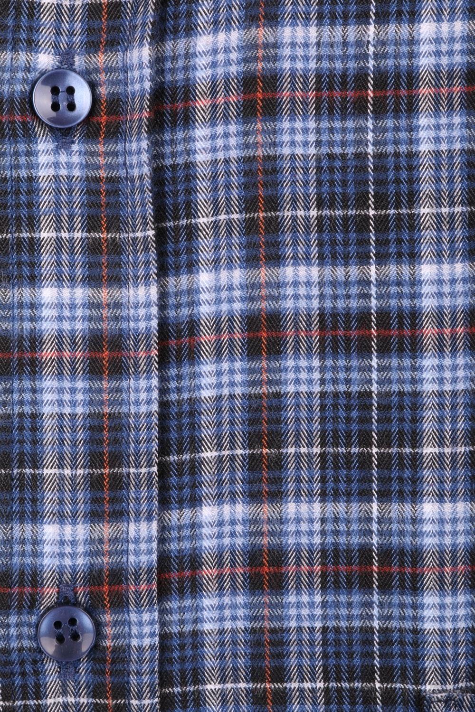 Классическая кашемировая рубашка в клетку, длинный рукав  (Арт. T 3720)