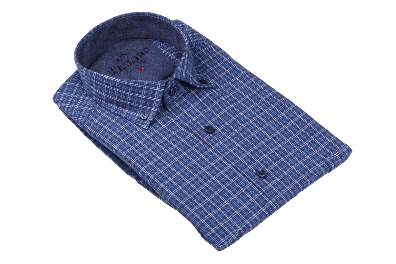 Классическая кашемировая рубашка в клетку, длинный рукав  (Арт. T 3733)