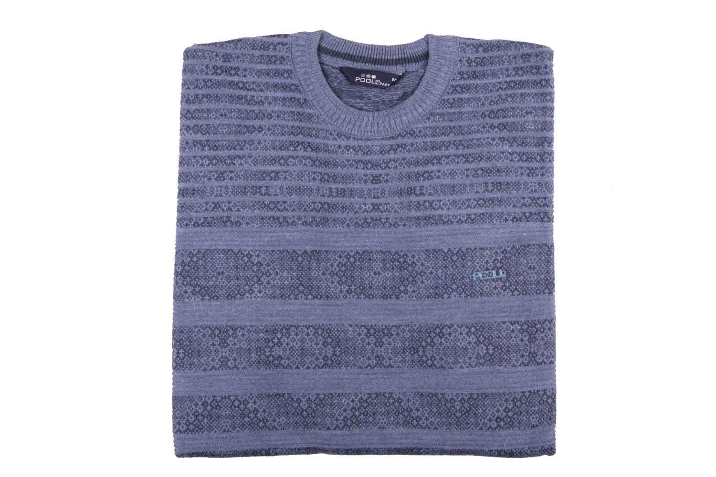 Стильный мужской свитер в полоску (Арт. POS 3900)