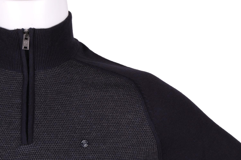 Стильный мужской свитер с воротником на молнии (Арт. POS 3938)