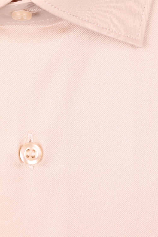 Cтильная мужская однотонная рубашка, длинный рукав  (Арт. T 3958)