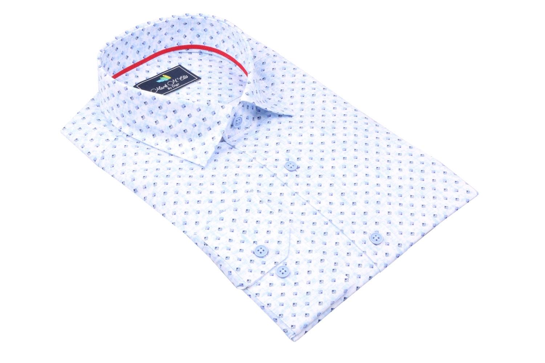 Cтильная мужская рубашка в рисунок, длинный рукав  (Арт. T 3965)