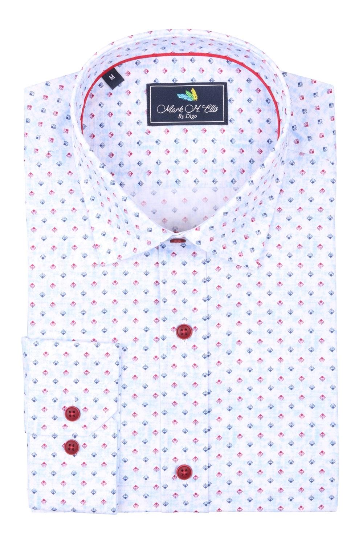 Cтильная мужская рубашка в рисунок, длинный рукав  (Арт. T 3966)