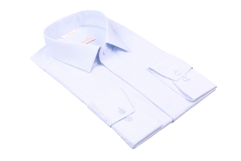 Cтильная мужская рубашка в мелкий рисунок, длинный рукав  (Арт. T 3968)
