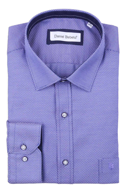 Классическая мужская рубашка в рисунок, длинный рукав  (Арт. T 4028)