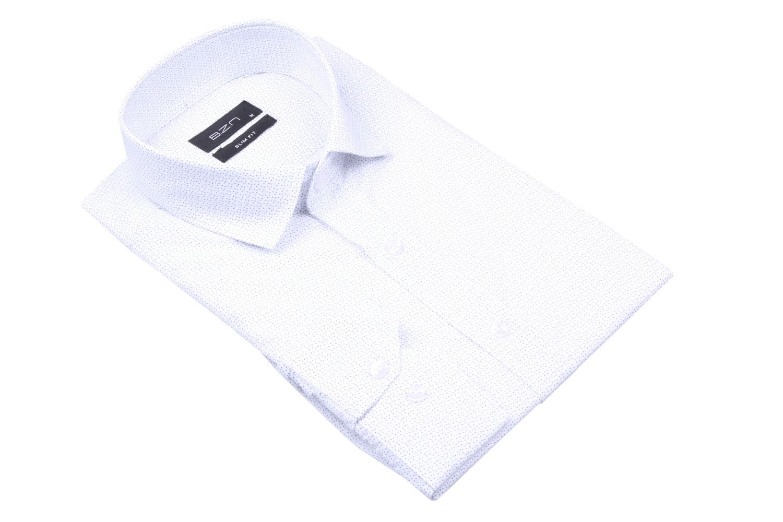 Стильная мужская рубашка в рисунок, длинный рукав  (Арт. T 4036)