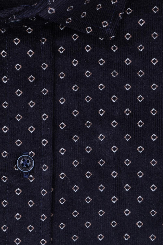 Вельветовая мужская рубашка в рисунок, длинный рукав  (Арт. T 4045)