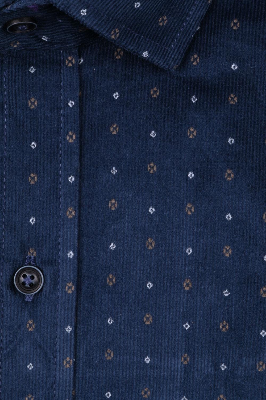 Вельветовая мужская рубашка в рисунок, длинный рукав  (Арт. T 4047)