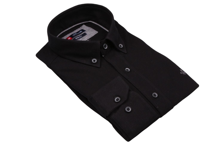 Стильная однотонная  мужская рубашка, длинный рукав  (Арт. T 4049)