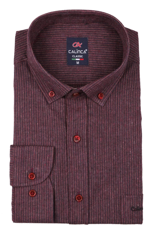 Классическая кашемировая мужская рубашка в полоску, длинный рукав (Арт. T 3999)