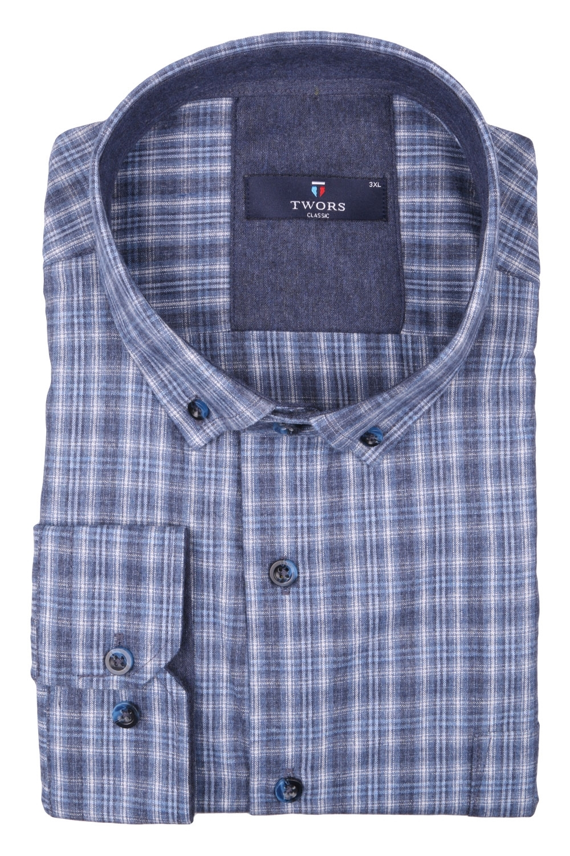 Классическая мужская рубашка в клетку, длинный рукав (Арт. T 4007 B)