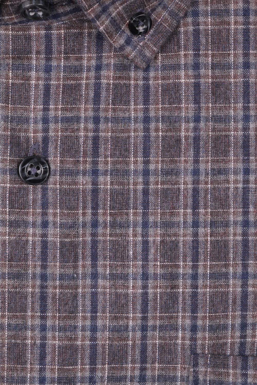 Классическая мужская рубашка в клетку, длинный рукав (Арт. T 4009 B)