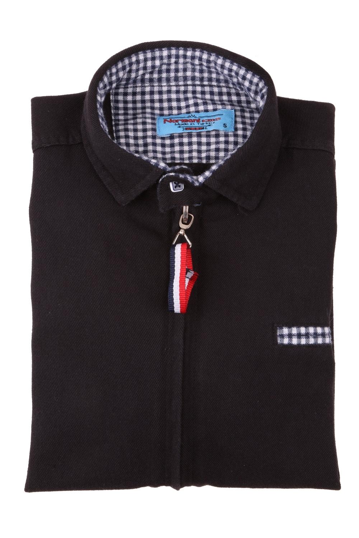 Детская рубашка c застежкой на молнии, длинный рукав (Арт. TB 4166)
