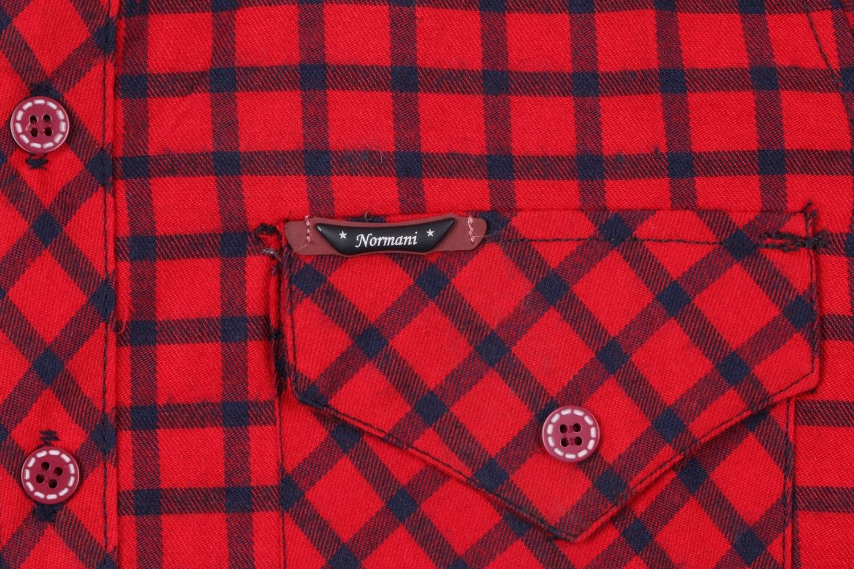 Детская кашемировая рубашка в клетку, длинный рукав (Арт. TB 4170)