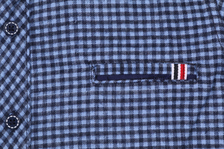 Детская кашемировая рубашка в клетку, длинный рукав (Арт. TB 4171)