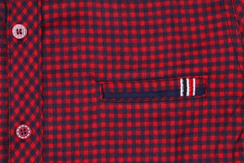 Детская кашемировая рубашка в клетку, длинный рукав (Арт. TB 4172)