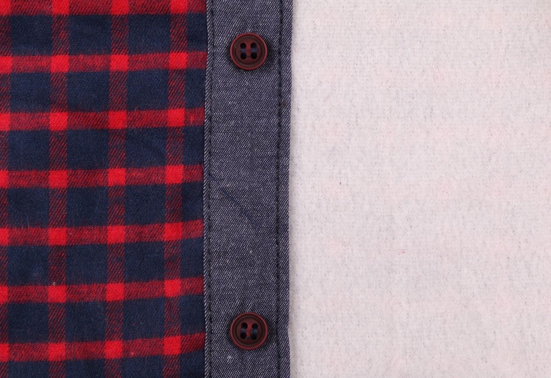 Детская рубашка в клетку утеплённая, длинный рукав (Арт. TB 4185)