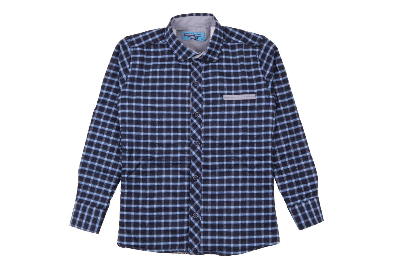 Детская рубашка в клетку утеплённая, длинный рукав (Арт. TB 4188)