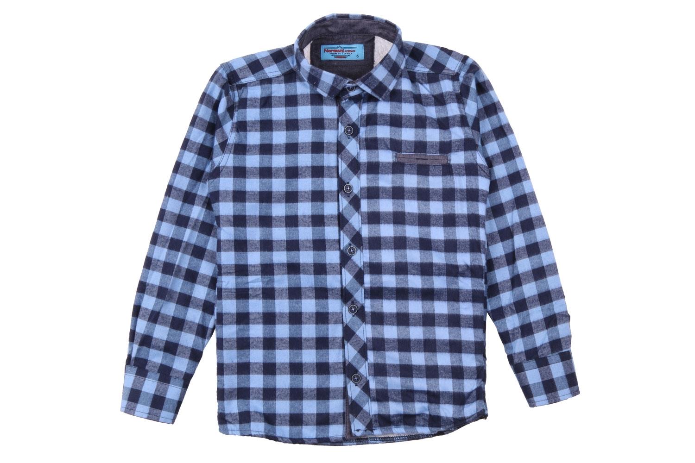 Детская рубашка в клетку утеплённая, длинный рукав (Арт. TB 4196)