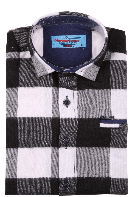 Детская кашемировая рубашка в клетку, длинный рукав (Арт. TB 4208)
