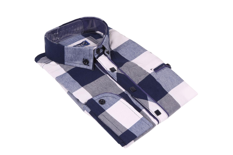 Детская рубашка в клетку,длинный рукав (Арт. TB 4227)