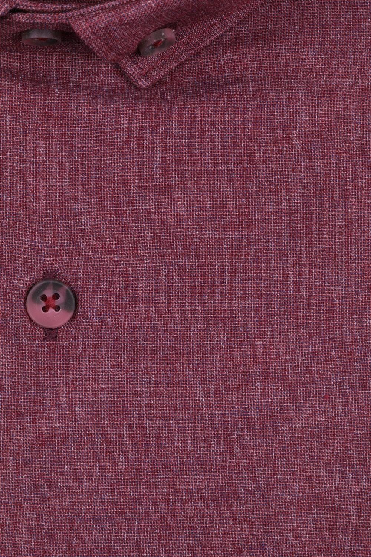 Стильная мужская однотонная рубашка, длинный рукав (Арт. T 4134)