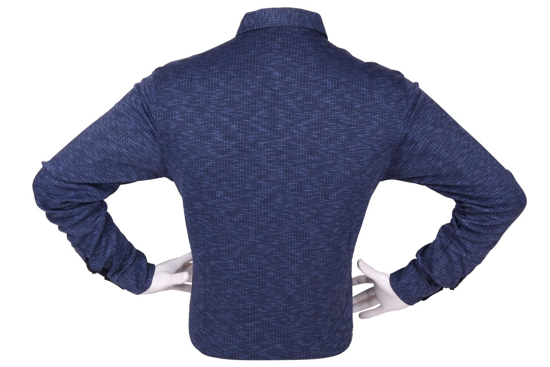 Стильная мужская рубашка в мелкий рисунок, длинный рукав (Арт. T 4261)