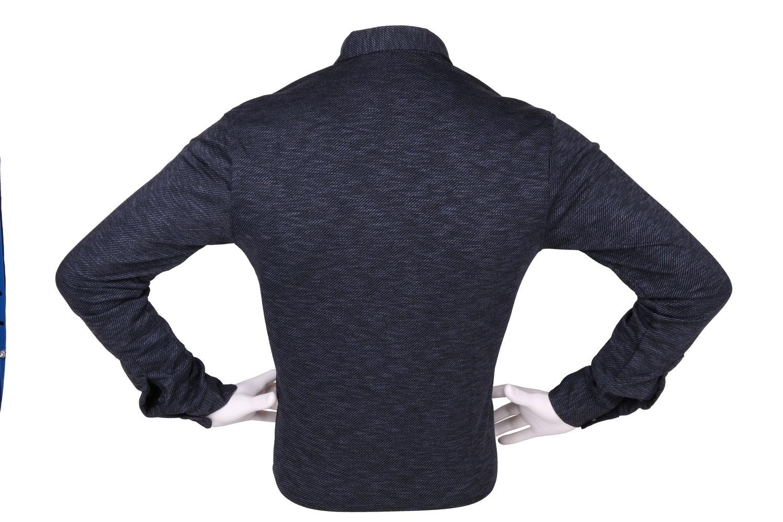 Стильная мужская однотонная рубашка, длинный рукав (Арт. T 4264)