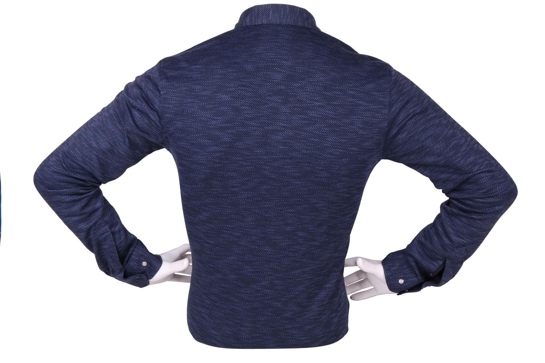 Стильная мужская однотонная рубашка, длинный рукав (Арт. T 4267)