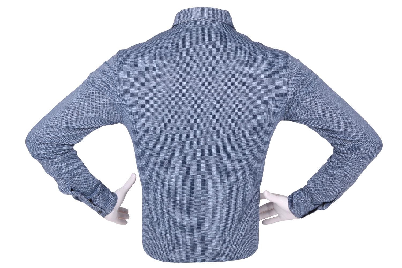 Стильная мужская однотонная рубашка, длинный рукав (Арт. T 4274)