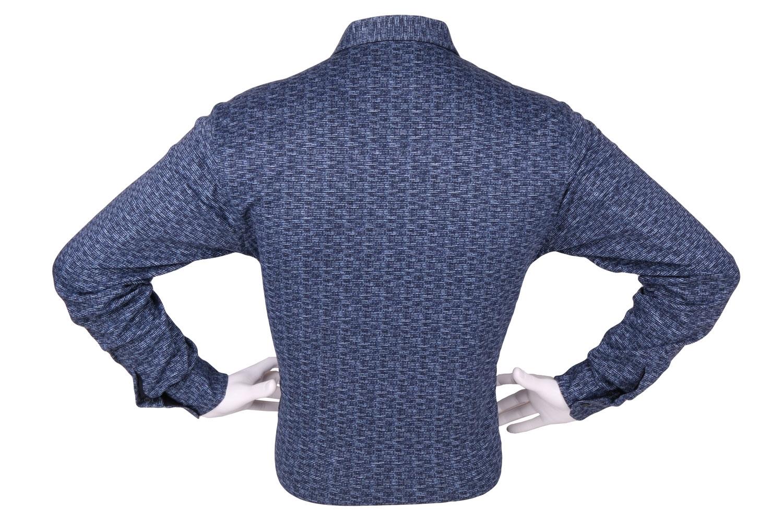 Стильная мужская рубашка в мелкий рисунок, длинный рукав (Арт. T 4275)