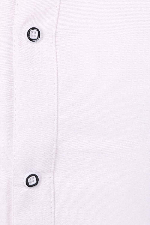 Стильная однотонная мужская рубашка, длинный рукав (Арт. T 4306)