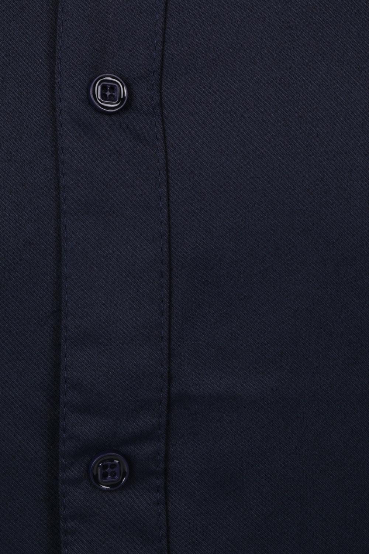 Стильная однотонная мужская рубашка, длинный рукав (Арт. T 4309)