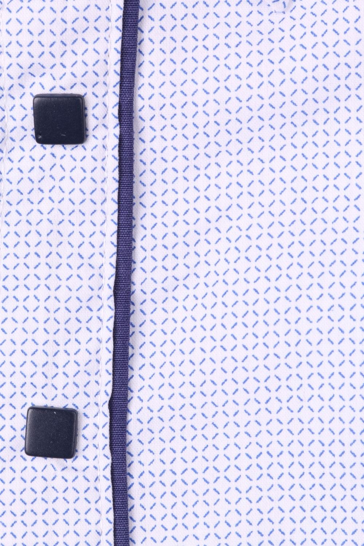 Детская рубашка в мелкий рисунок с окантовкой по планке, длинный рукав (Арт. TB 4332)
