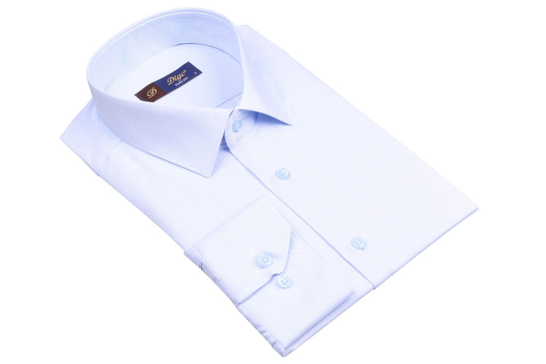 Стильная однотонная мужская рубашка, длинный рукав (Арт. T 4071)
