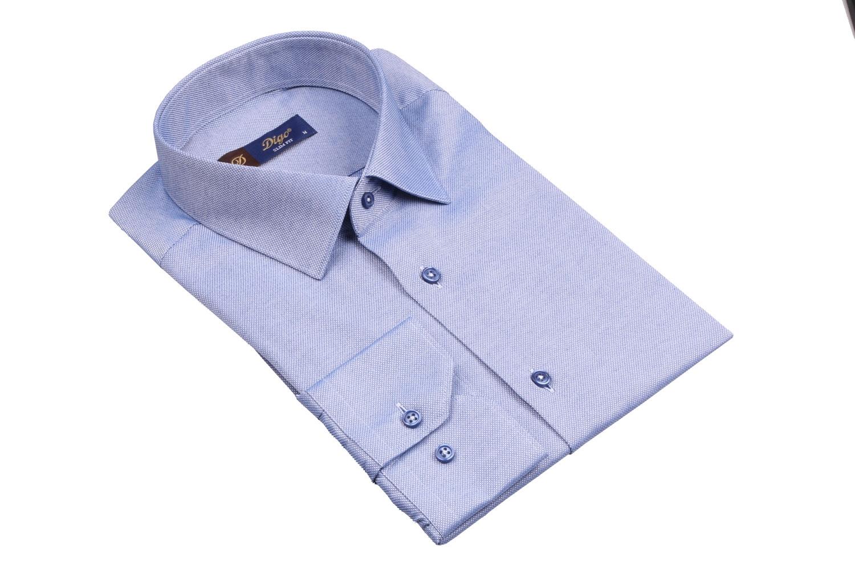Стильная однотонная мужская рубашка, длинный рукав (Арт. T 4075)