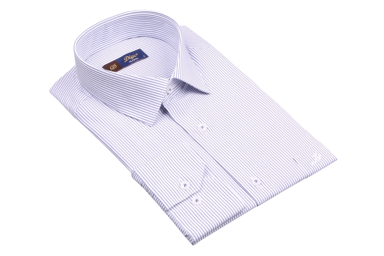 Классическая мужская рубашка в полоску, длинный рукав (Арт. T 4084)