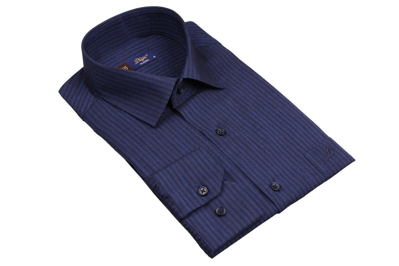 Классическая мужская рубашка в полоску, длинный рукав (Арт. T 4085)