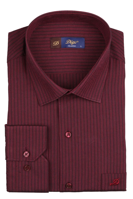 Классическая мужская рубашка в полоску, длинный рукав (Арт. T 4086)