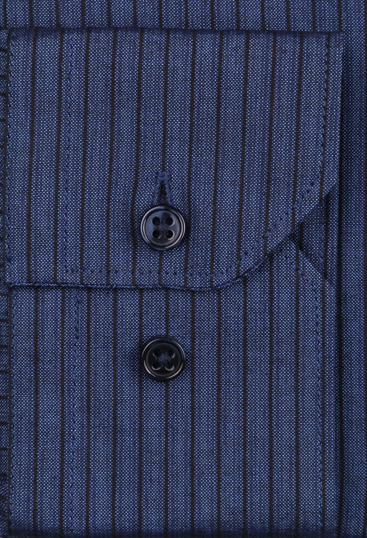 Классическая мужская рубашка в полоску, длинный рукав (Арт. T 4087)