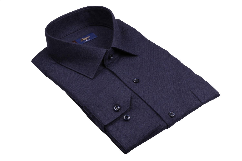 Классическая однотонная мужская рубашка, длинный рукав (Арт. T 4088)