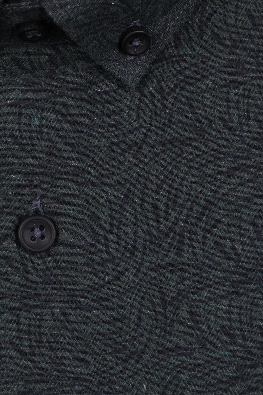 Стильная мужская рубашка в мелкий рисунок, длинный рукав (Арт. T 4105)