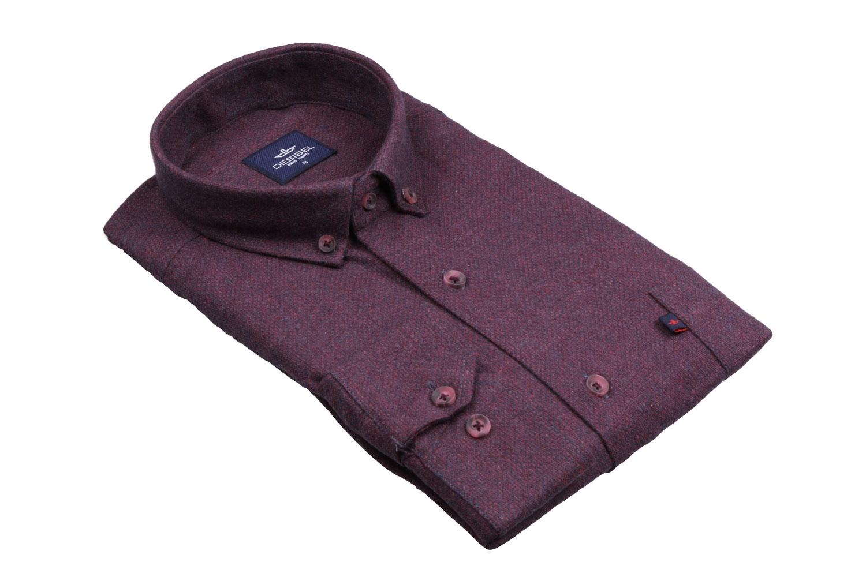 Классическая однотонная мужская рубашка, длинный рукав (Арт. T 4108)