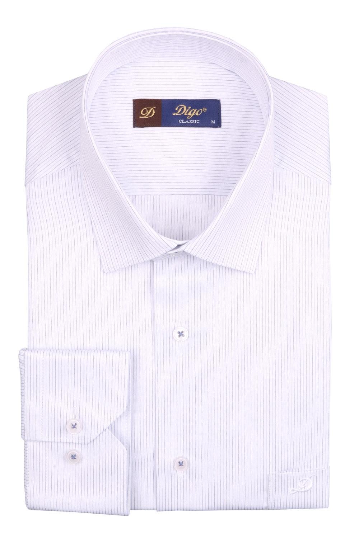 Классическая мужская рубашка в полоску, длинный рукав (Арт. T 4082)