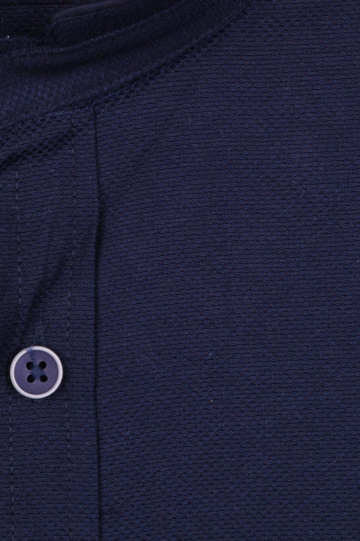 Стильная однотонная мужская рубашка с воротником стойка, длинный рукав (Арт. T 4116)