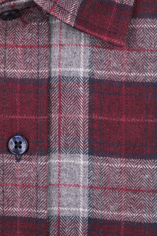 Мужская классическая рубашка в клетку, длинный рукав (Арт. T 4336)