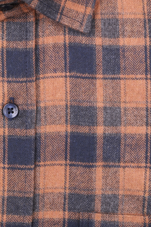 Мужская классическая рубашка в клетку, длинный рукав (Арт. T 4341)